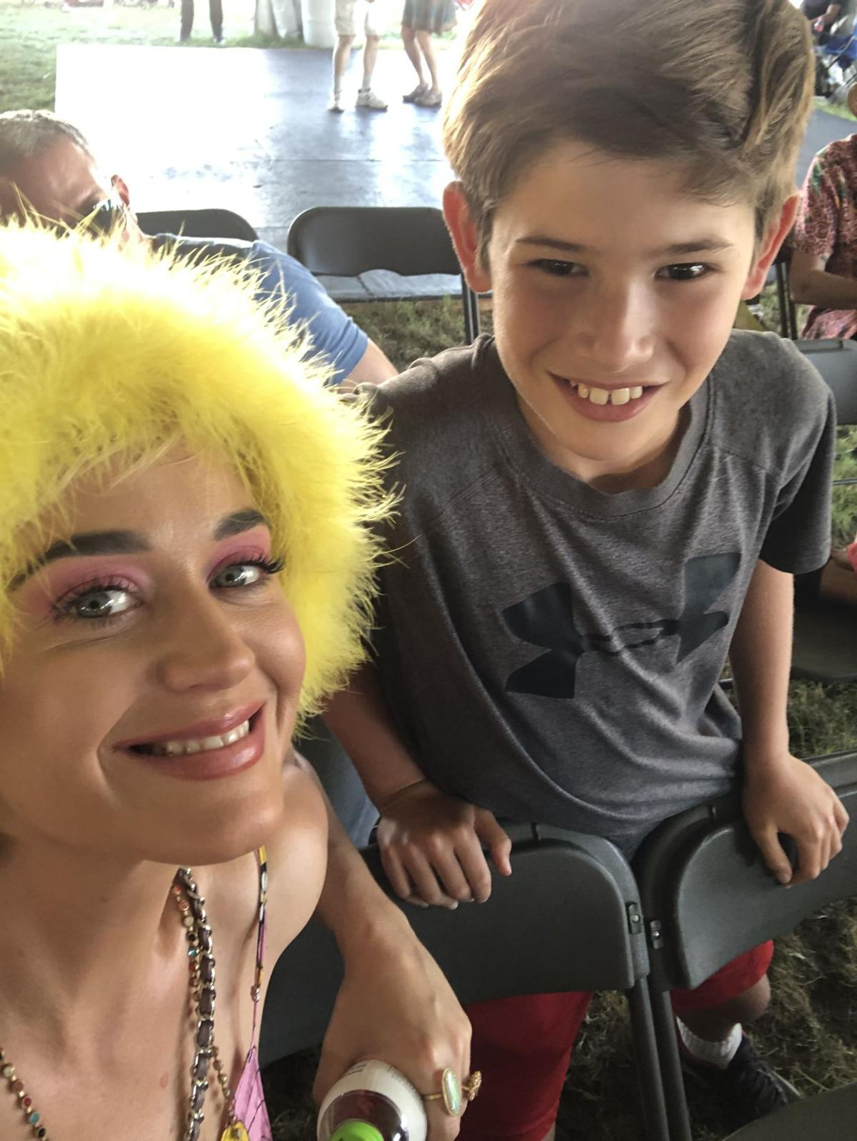 Katy Perry at Jazz Fest with fan