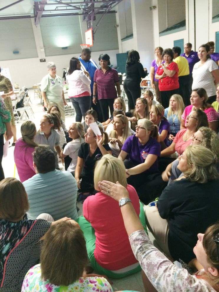 Montessori teachers take part in 'Simulation Society' _lowres