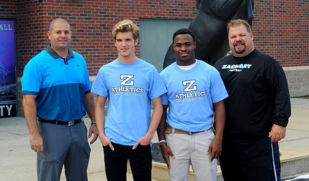 Zachary High lauds 2 student-athletes _lowres