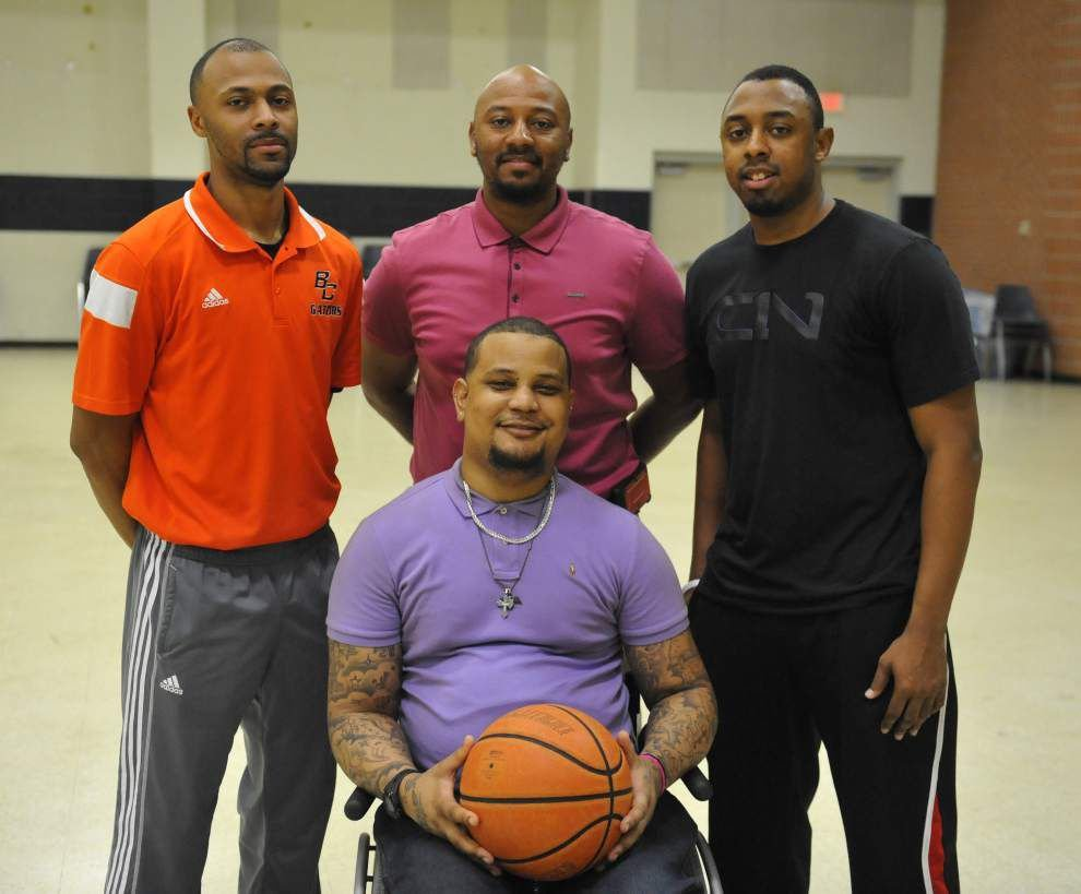 Beau Chene's basketball coaching staff is a family affair with Lorenso Williams as the head coach, and his brothers serving as his assistants _lowres
