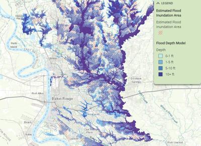 Flood depth map