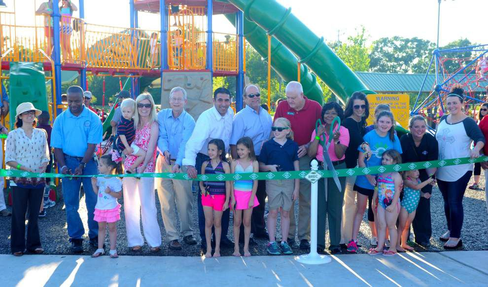 New mega tower, splash pad now open at Zachary park _lowres