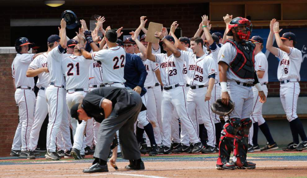 Virginia rallies to top Maryland for another College World Series berth _lowres