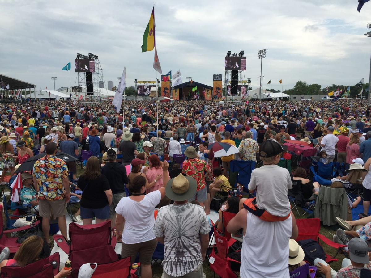 Aerosmith crowd at 2018 new orleans jazz fest