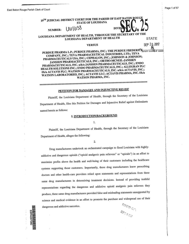 DHH lawsuit against drug companies