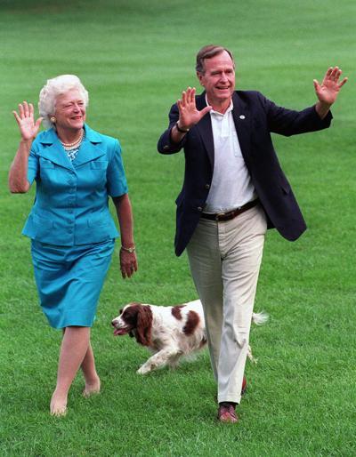 George H.W. Bush, Barbara Bush, Millie