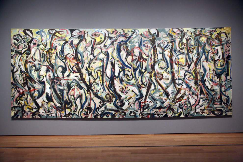 Refurbished Pollock masterpiece goes on display _lowres