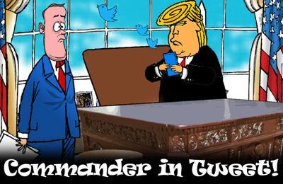 Trump commander in tweet