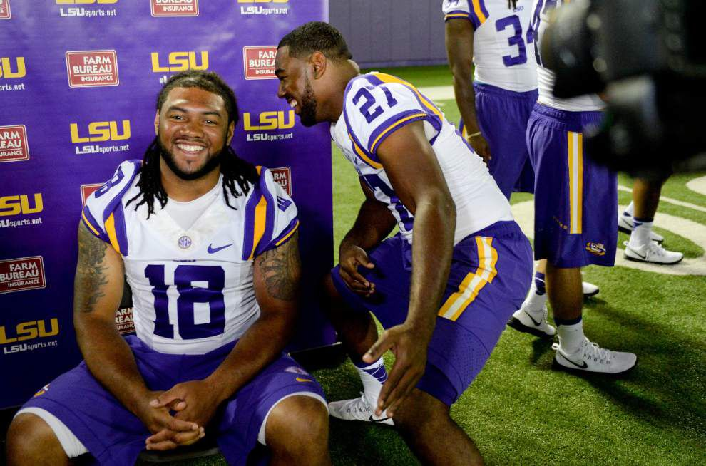 Kenny Hilliard, Terrence Magee want to continue LSU's run to the NFL _lowres