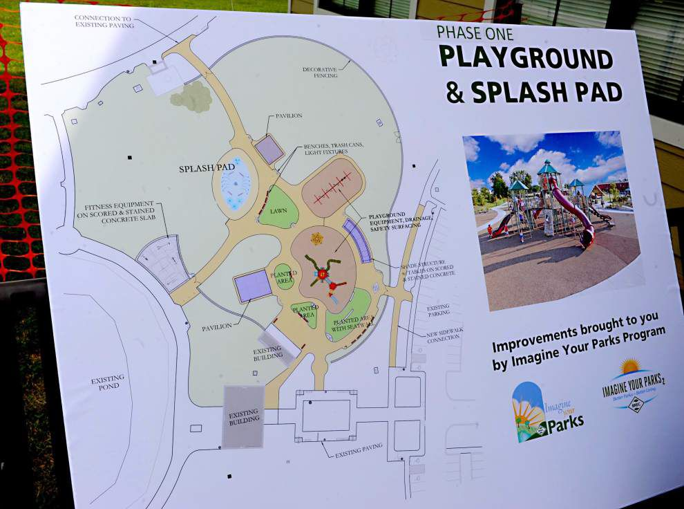 Zachary spray area and playground opens _lowres