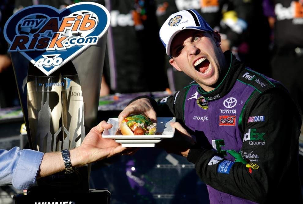 Denny Hamlin wins Chase for the Sprint Cup opener at Chicagoland _lowres