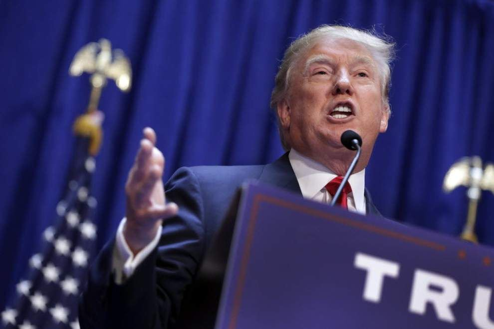 Our Views: The state of Louisiana takes its lumps for dealing with Donald Trump _lowres