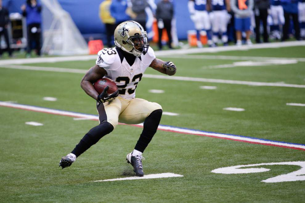 Second-year Saints running back Marcus Murphy out to prove he's more than just a returner _lowres