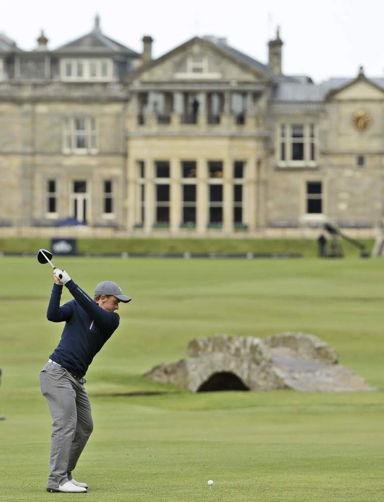 Jordan Spieth, amateur Paul Dunne eye history with one round left at the British Open _lowres