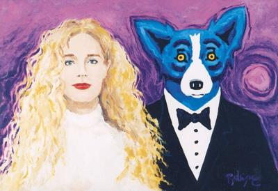 Photo: Stolen Rodrigue painting: 'Wendy and Me' _lowres