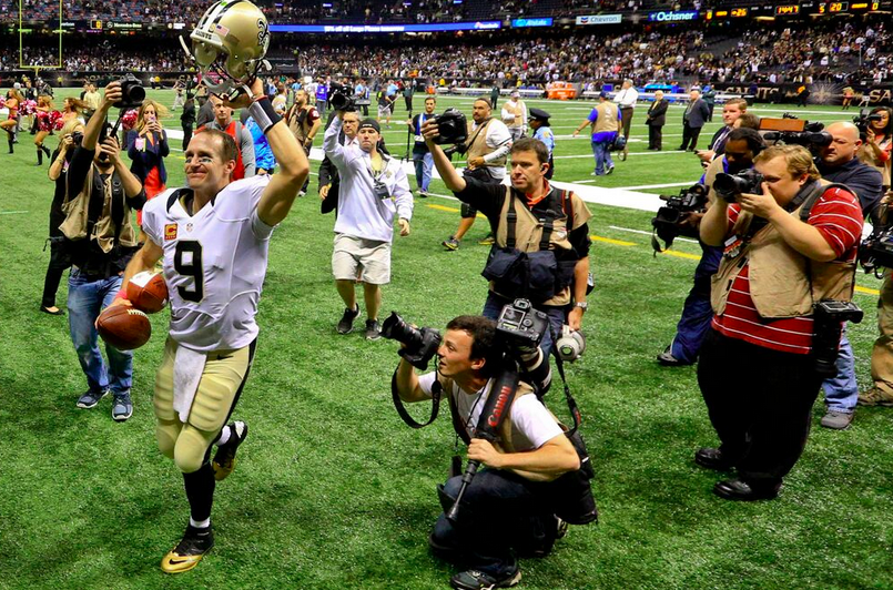 Behind one-armed superhero Drew Brees, these New Orleans Saints could get really fun_lowres