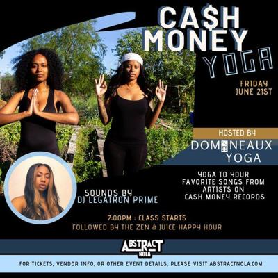 Domineaux Yoga presents yoga classes to Cash Money Records hits at the Historic Carver Theater