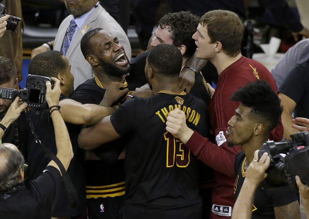 The wait is over: Cavaliers end Cleveland's 52-year sports title drought by beating Warriors 93-87 in Game 7 of NBA Finals _lowres