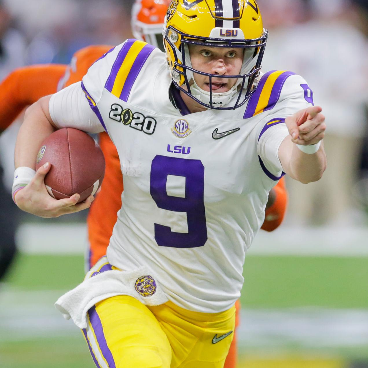 Rabalais With No 1 Pick Joe Burrow Moves Into Another Realm Of Lsu Football Glory Lsu Theadvocate Com