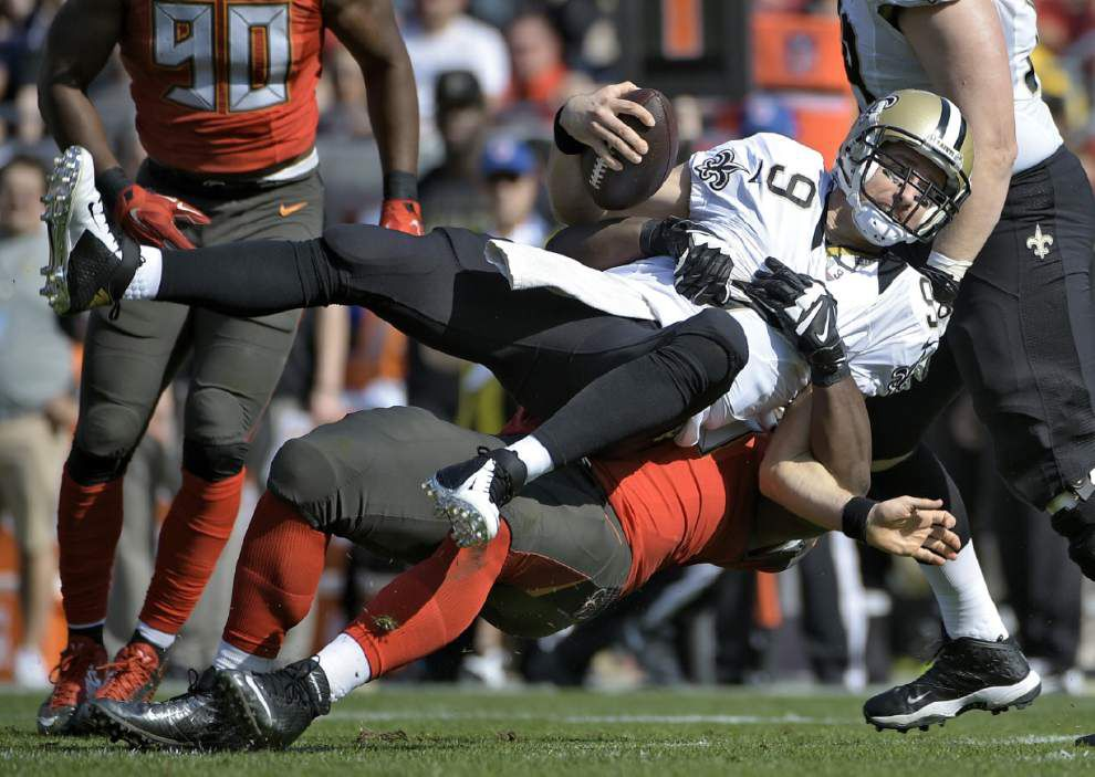 Saints quarterback Drew Brees shakes off three interceptions to rally Saints over Bucs _lowres
