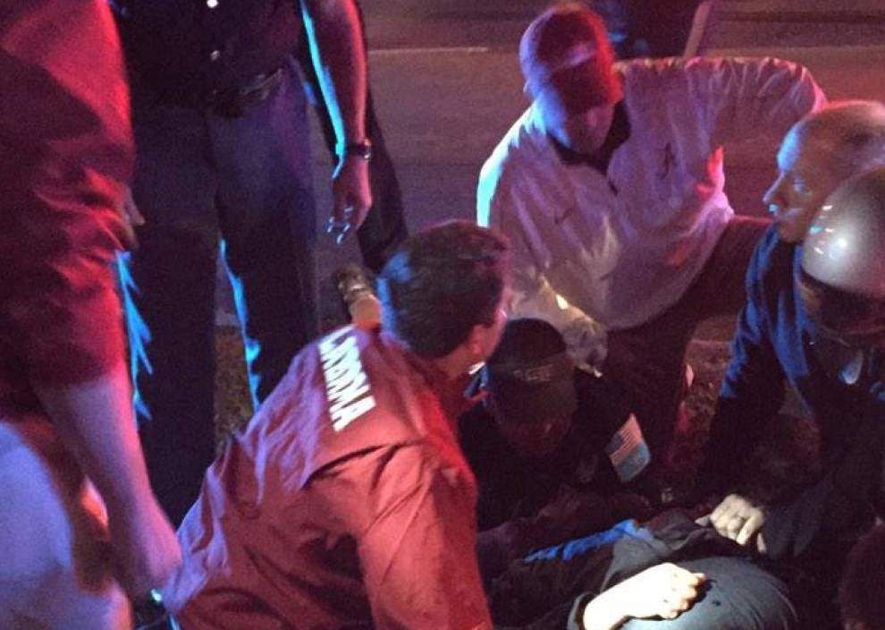 LSU police officer in stable condition after being hit by car Saturday; Alabama team doctors first to respond _lowres