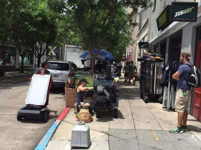 MTV's 'Scream' TV show is filming downtown today