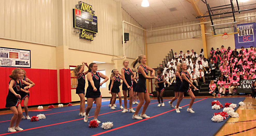 Braves get bold during pep rally _lowres
