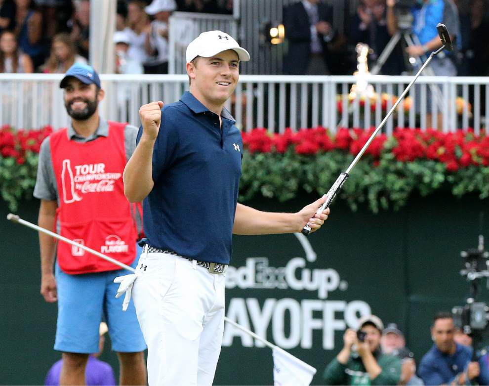 Jordan Spieth claims Tour Championship to win FedEx Cup, finish his year with $22 million in winnings _lowres