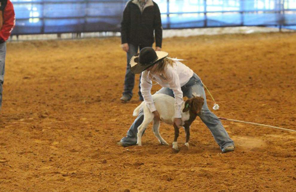 Girl wins national title in goat-tying _lowres