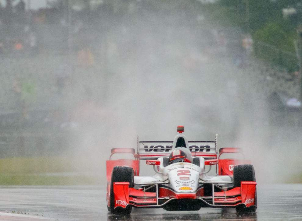 Indy Grand Prix of Louisiana to start at 1:45 p.m. after rain washes out qualifying; Juan Pablo Montoya awarded pole position _lowres