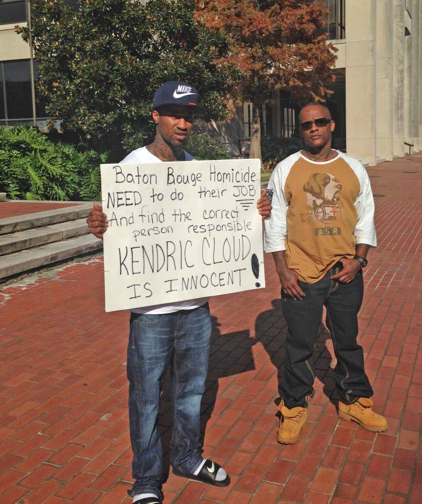 Siblings protest in front of Baton Rouge City Hall, claim Kendric Cloud is not the killer of West St. John coach Juan Joseph _lowres