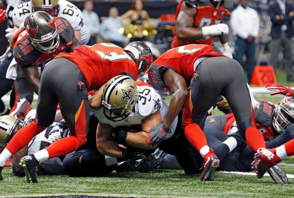 Game plan, not injury, put Saints fullback Austin Johnson on inactive list against Eagles _lowres