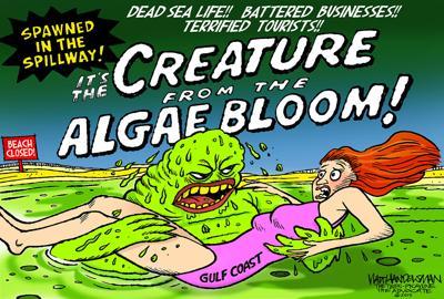 Walt Handelsman: Spillway Monster
