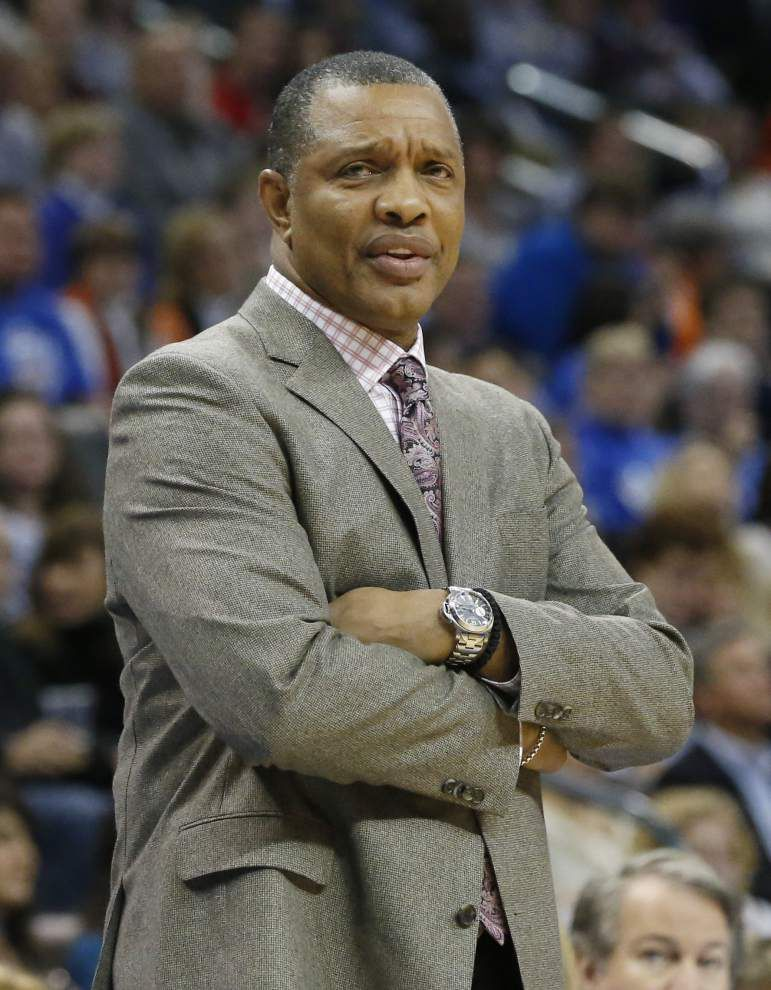 Warriors assistant Alvin Gentry interviews with Pelicans _lowres