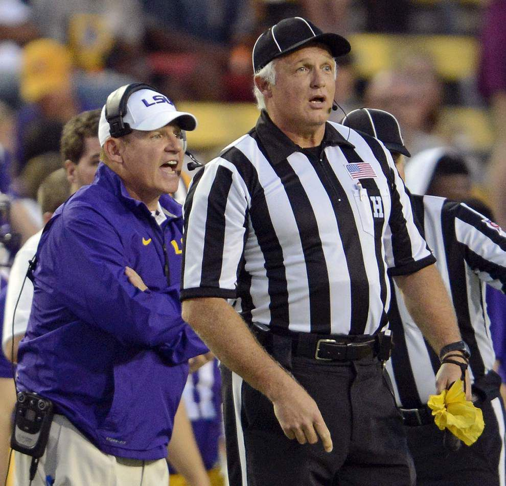 Wednesday's With LSU coach Les Miles _lowres
