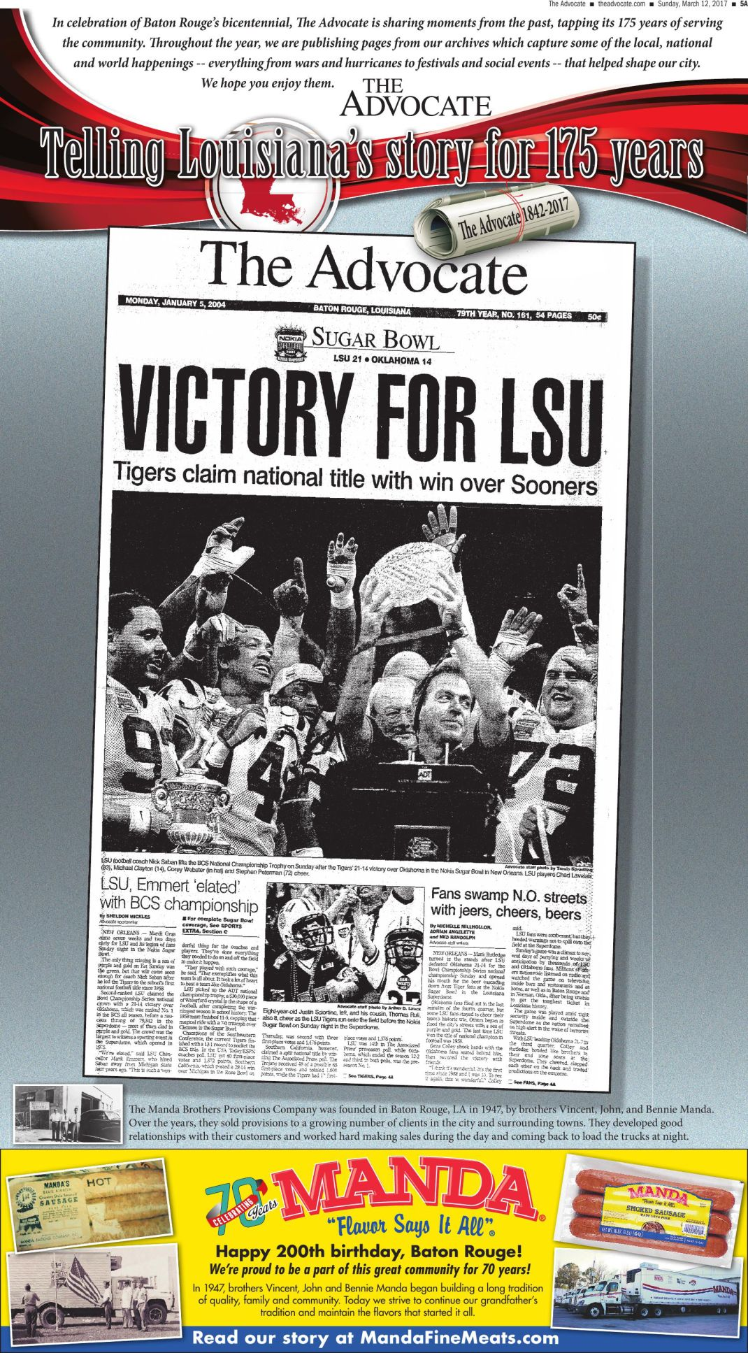 Victory For LSU National Championship