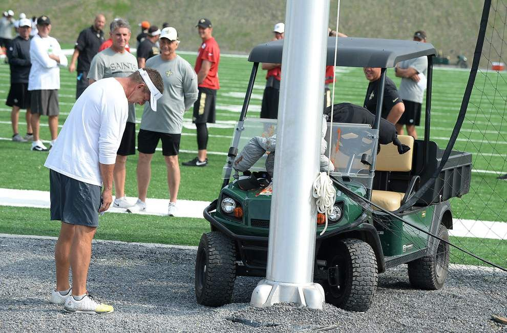The joke is on the coach as Drew Brees and the QBs prank Sean Payton _lowres