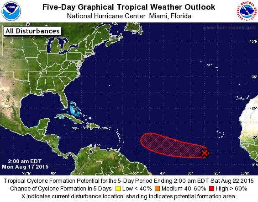 Hurricane Center watching area of low pressure off Africa that could develop into tropical storm _lowres