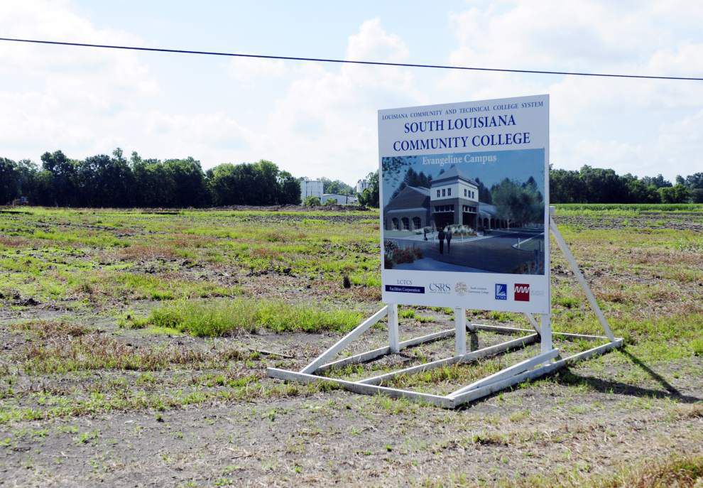 Rain slows construction work at new South Louisiana Community College campus in St. Martinville _lowres