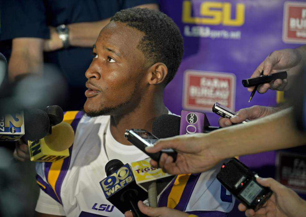 "LSU coach Les Miles: Brandon Harris got ""significantly"" more first-string snaps. Or did he? _lowres"