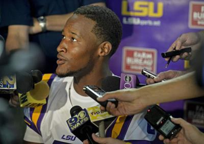 """LSU coach Les Miles: Brandon Harris got """"significantly"""" more first-string snaps. Or did he? _lowres"""