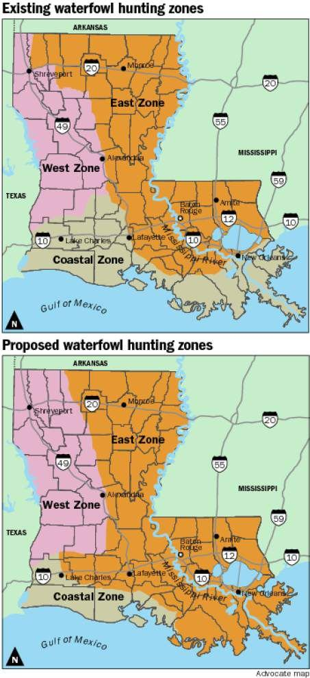 LDWF taking comments on state's proposed waterfowl zones _lowres