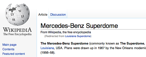 Oh Lord, won't you buy me a Mercedes-Benz(TM)  Superdome_lowres