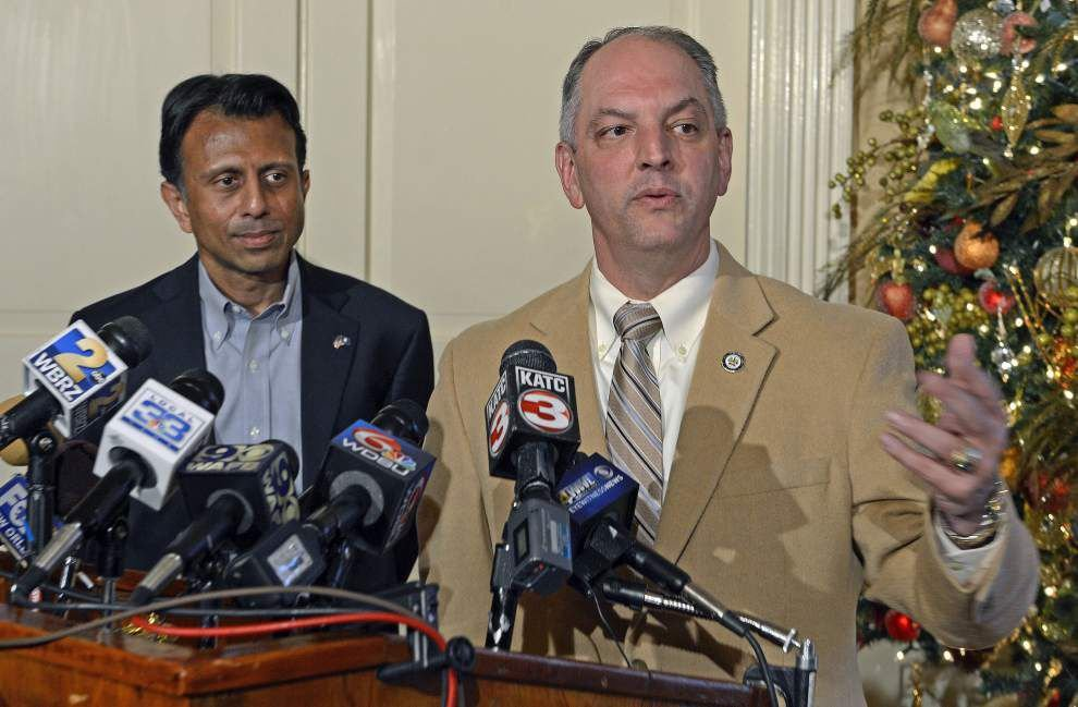 Bobby Jindal, John Bel Edwards meet for 'cordial,' 'very productive' discussion about transition _lowres