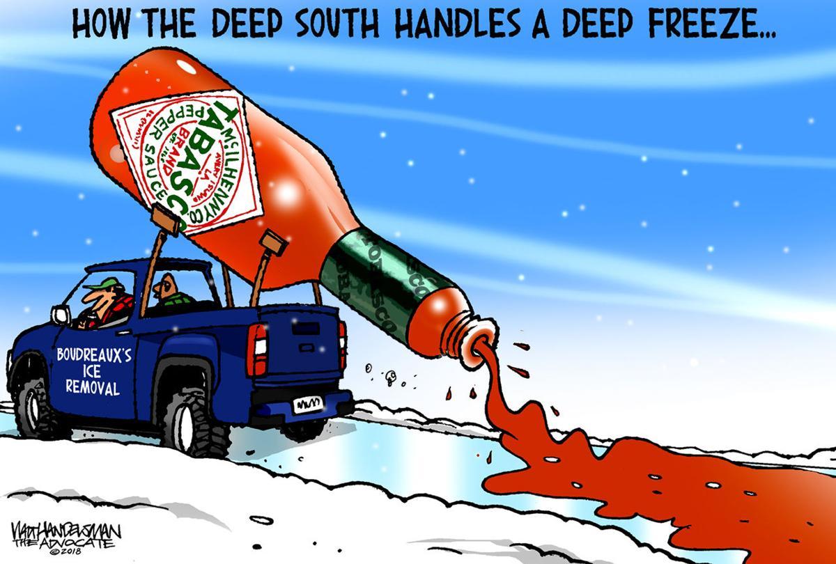 Walt Handelsman: Deep South Ice Removal