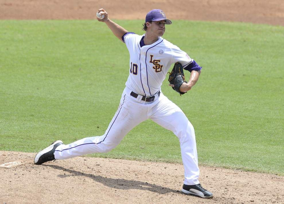 It's baseball and the beach as Aaron Nola begins his pro career _lowres