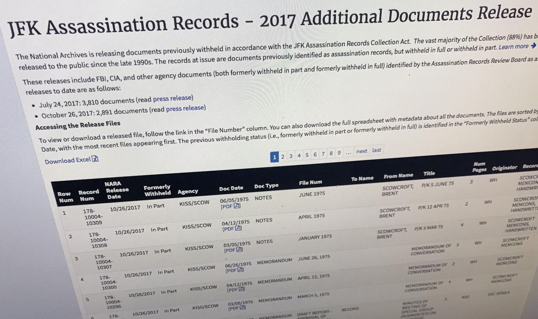 memo and press release