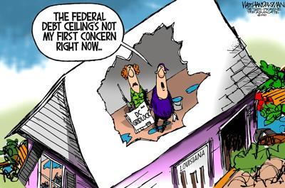 Walt Handelsman: Speaking of Ceilings and Debt...