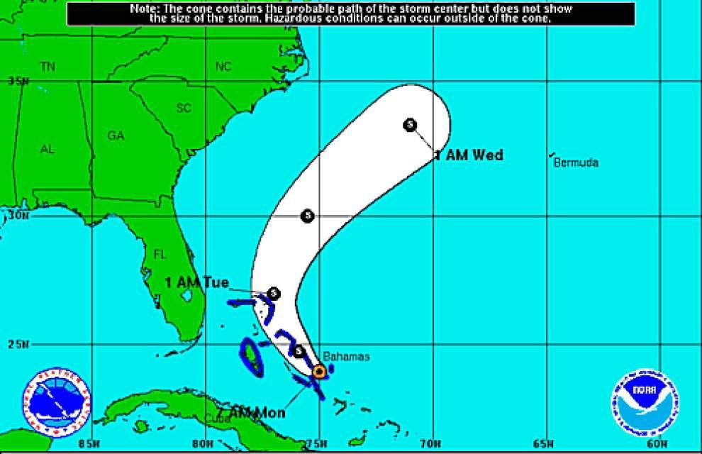 Tropical Storm Kate forms near central Bahamas, not expected to be threat to U.S. _lowres