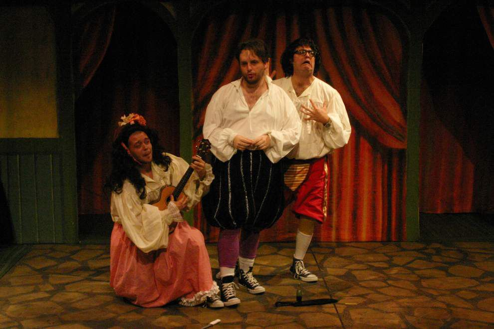 Review: Talented trio make 'Shakespeare (abridged)' look easy _lowres